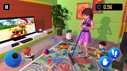 Happy Family Siblings Baby Care Nanny Mania Game 1.0.3 screenshots 1