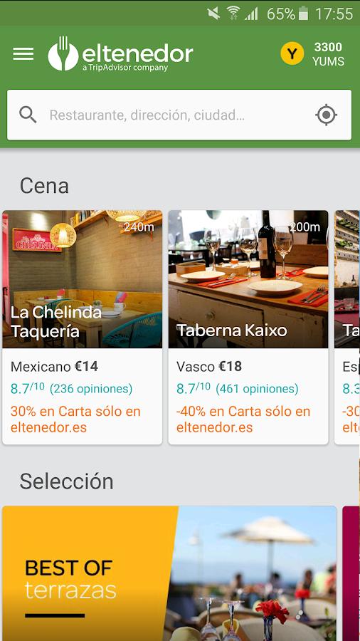 ElTenedor  Restaurantes España: captura de pantalla