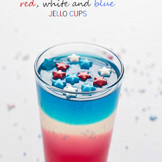 Red, White and Blue Jello Cups.
