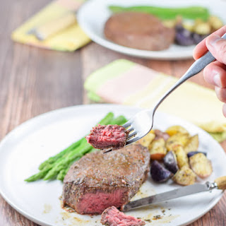 Scrumptious Medium Rare Juicy Sirloin Steak Filets.