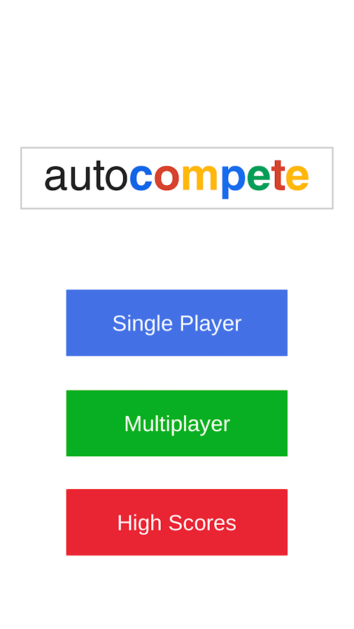 AutoCompete- screenshot
