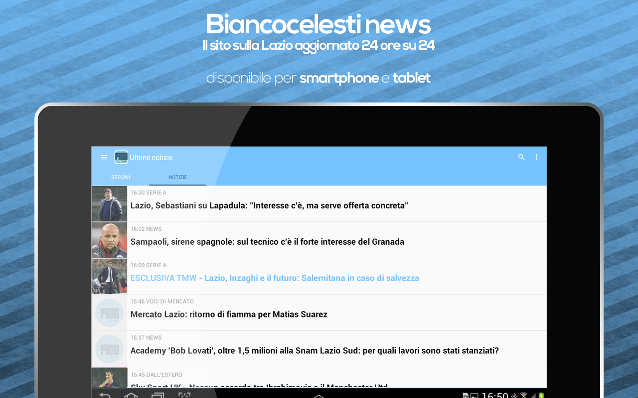 Biancocelesti News - Lazio- screenshot