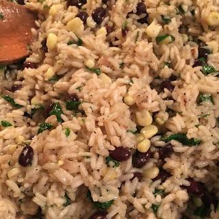 Cilantro, Lime, & Black Bean Rice.