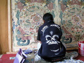 Photo: An artist creating traditional Bhutanese paintings. But why does he hate himself?