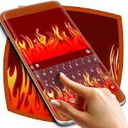 Fire Flames Cartoon Keyboard