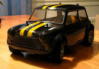 Photo: Tamiya M03 Mini Cooper allekirjoittaneen maalaamalla korilla.