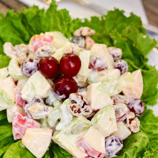 Waldorf Salad with Crunchy Apples and Grapes.
