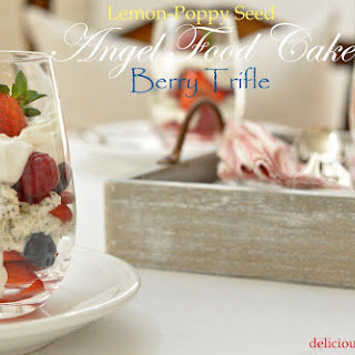 Angel Food Cake Trifle with Country Cream