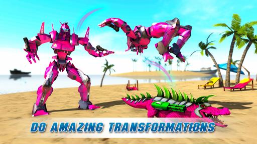 Real Robot Crocodile Simulator- Robot transform 1.0.12 Screenshots 7