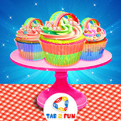 Rainbow Cupcake Maker – DIY Cooking Games 2017