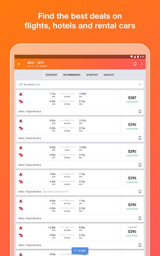 Screenshot 5 for Kayak's Android app'
