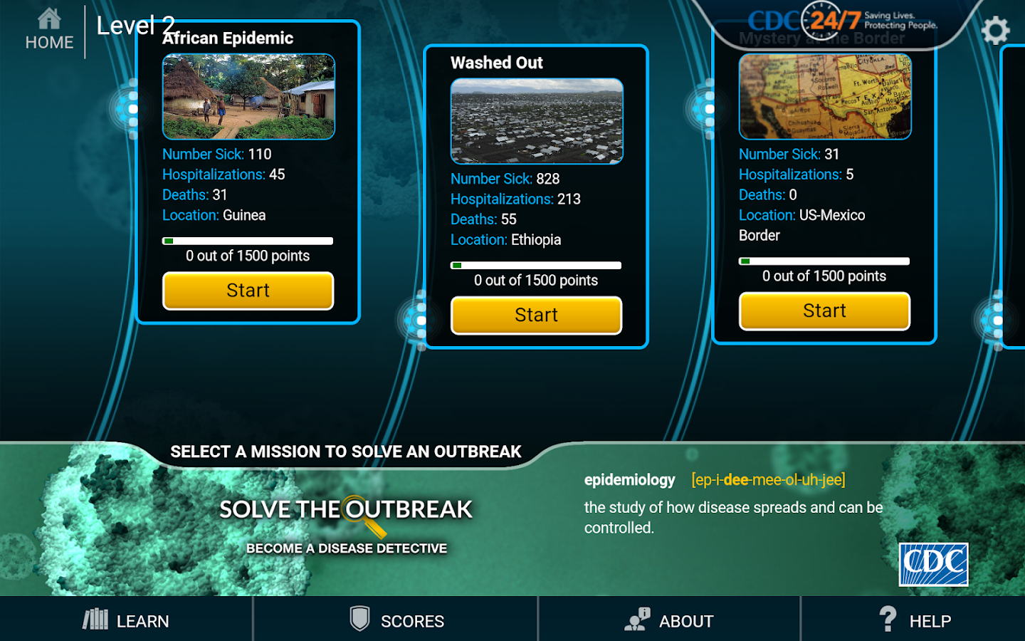 Solve the Outbreak- screenshot