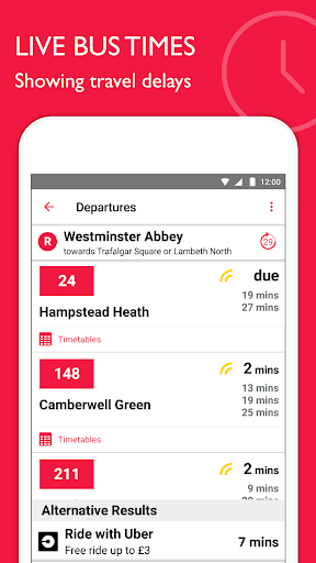 Bus Times London – TfL timetable and travel info 2.6.0 screenshots 2