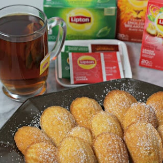Lemon Ginger Tea Infused Madeleines