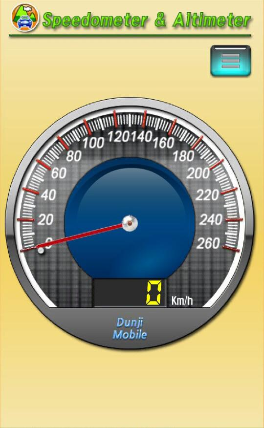 Speedometer and altimeter- screenshot