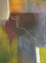 Photo: JOURNEY OF A LINE 36X24 mixed media sold
