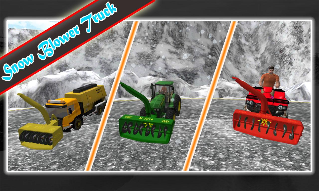 Snow Thrower Truck : Winter snow blower truck sim android apps on google play