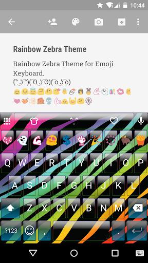 Rainbow Zebra Emoji Keyboard