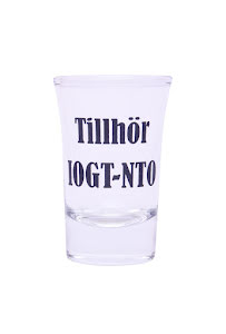 """Snapsglas """"Tillhör IOGT-NTO"""""""