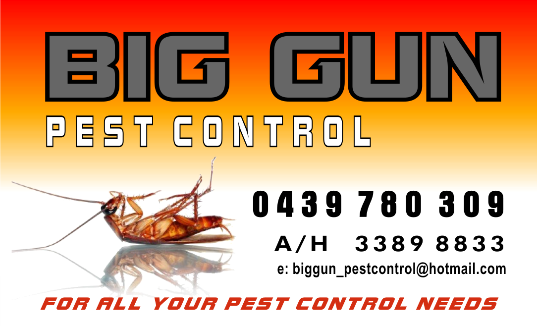 Click here to BOOK a BIG GUN pest control today.