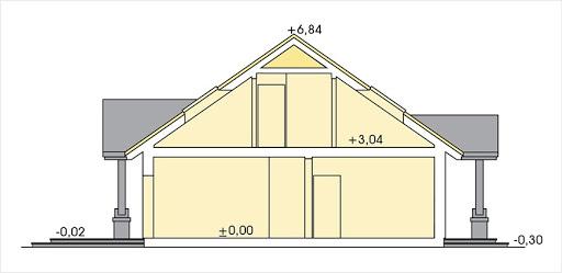 Anita wersja A z pojedynczym garażem - Przekrój