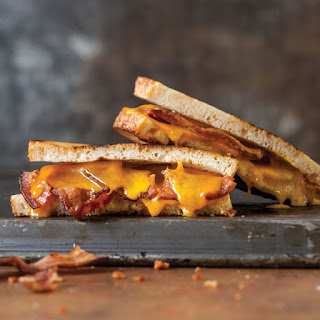 Bacon & Smoked Cheddar Grilled Cheese Sandwiches.