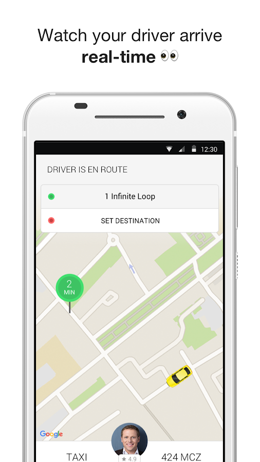Taxify- screenshot
