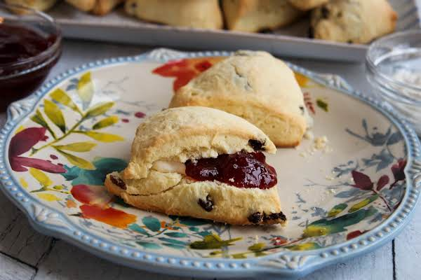 Cream Scones With A Bit Of Jam.
