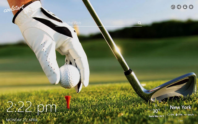 Golf HD Wallpapers Course Sport New Tab Theme