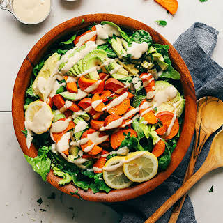 Sweet Potato & Avocado Green Salad.