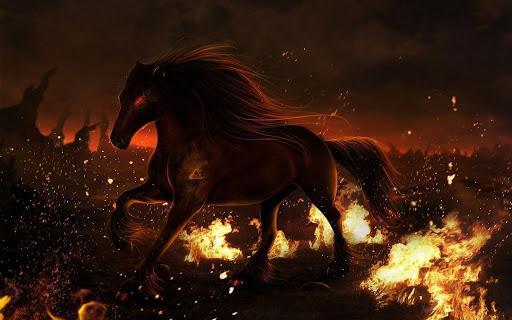Horse Fire Live Wallpaper