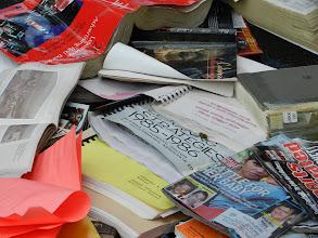 Photo: Spiral bound books are also problematic.