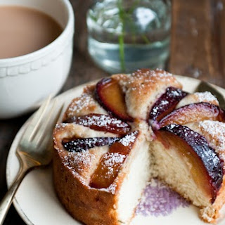 Plum, Rosemary, and Brandy Cakes