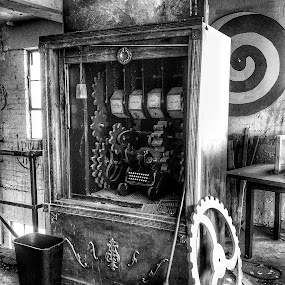 In an abandoned building by Mark Lawrence - Black & White Objects & Still Life