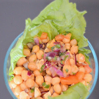 Tangy Chickpea salad.