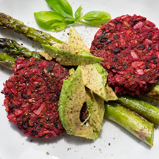 Beet and Black Bean Burgers (Vegan and GF)