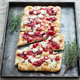 Roasted Cranberry And Goat Cheese Flatbreads.