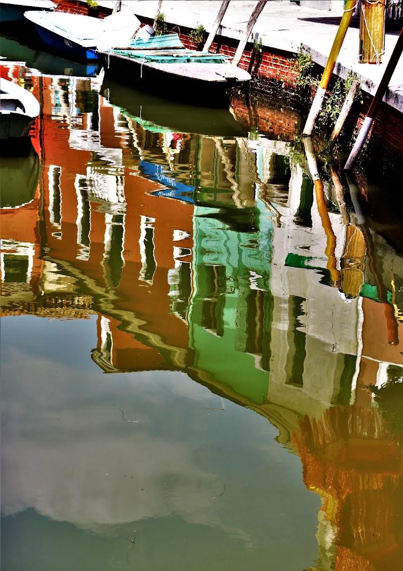 Burano-Venezia-Acquerello di ramemetallico
