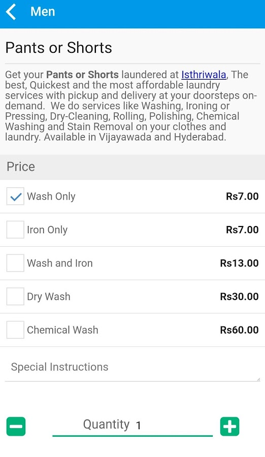 Isthriwala Laundry Services- screenshot