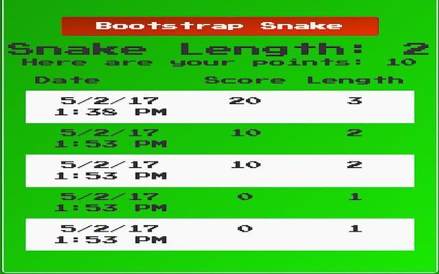 Bootstrap Snake