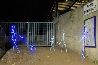 Photo: Evening classes - Light painting by Christopher Hibbert, french photographer and light painter. Further information: http://www.christopher-hibbert.com