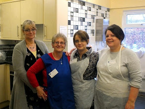 Photo: 004 The catering team official photo – early in the day while they were still smiling! Left to right: Myra, Terri, Shelby, Michelle .
