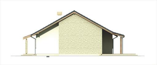 Antek II wersja C z podwójnym garażem - Elewacja prawa