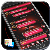 SMS Messages Spheres Red Theme