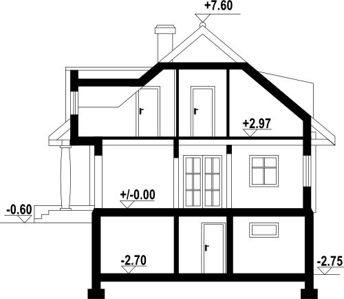 Chmielniki małe 59 dw - Przekrój