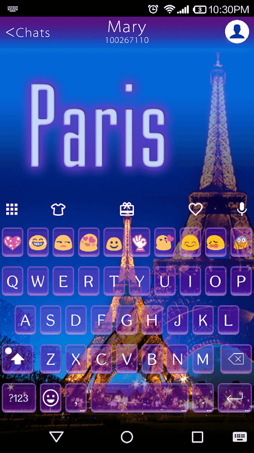 paris keyboard android apps on google play. Black Bedroom Furniture Sets. Home Design Ideas