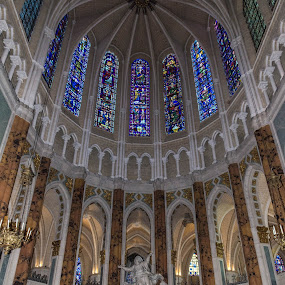 Chartres Cathedral by Denis Sinoussi - Buildings & Architecture Architectural Detail ( statue, church, chartres, monument, cathedral, vitraux )