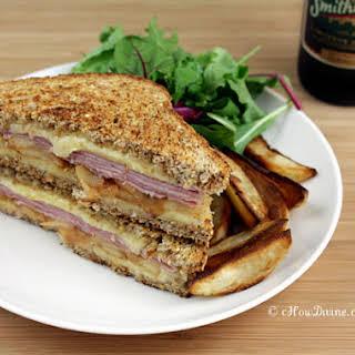 Ham, Cheddar, and Caramelized Apple Sandwich.