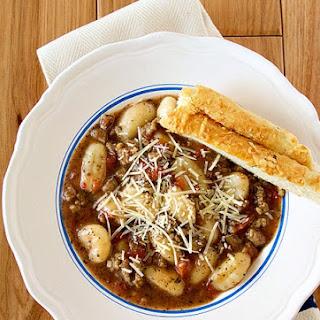 Italian Sausage Gnocchi Soup.