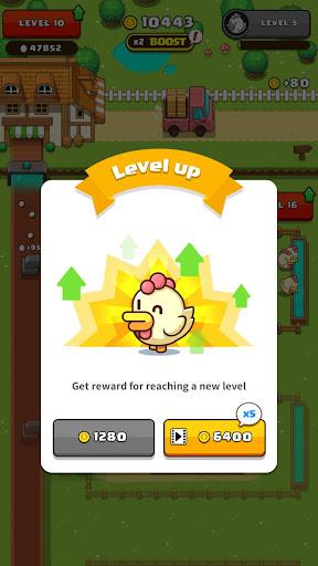 Lên level và nhận thưởng trong Idle Egg Tycoon mod